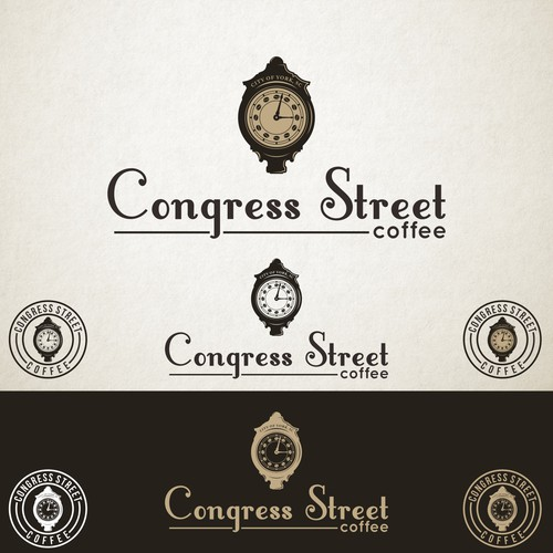 Logo Design for Congress Street Coffee