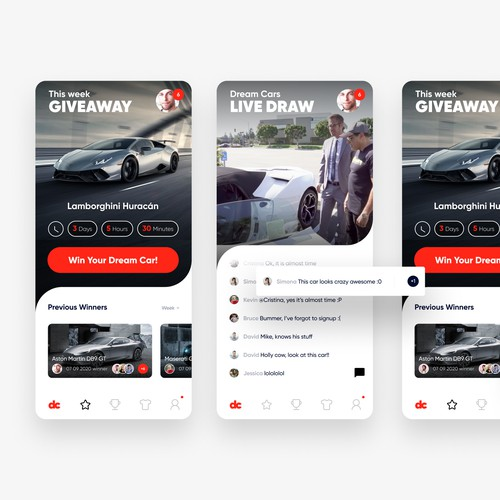 Dream Cars APP Design