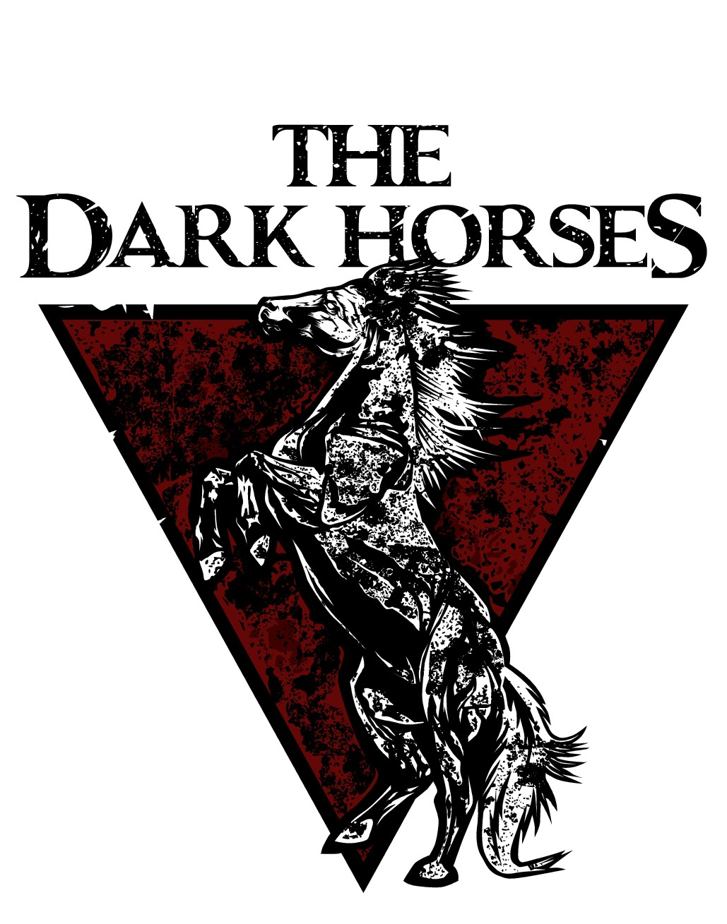 T-shirt for rock band The Dark Horses