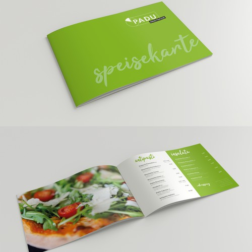Fresh redesign of Pizzeria menu