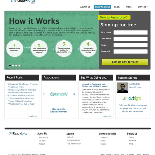 New Landing Page for Readyforce.com