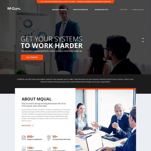 MQUAL website design
