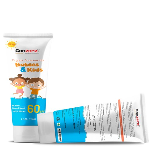 Packaging for Kids Sunscreen Lotion