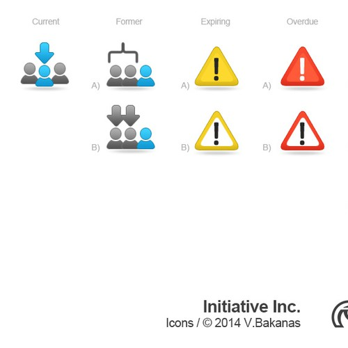 Create 8 sweet icons for application navigation