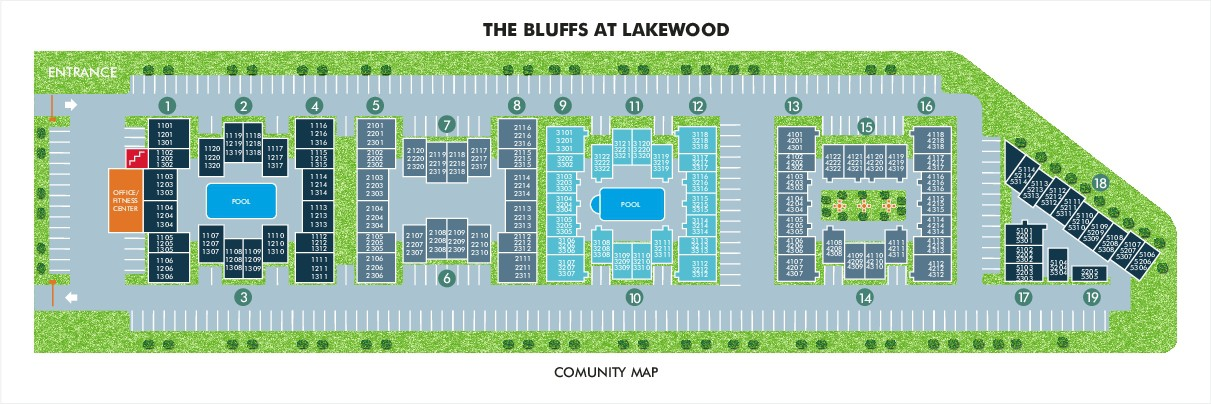 Bluffs at Lakewood Site Map