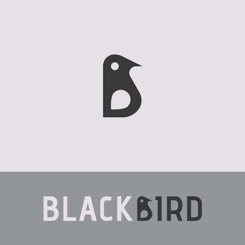 Bird logo, where the bird resembles the capital letter B