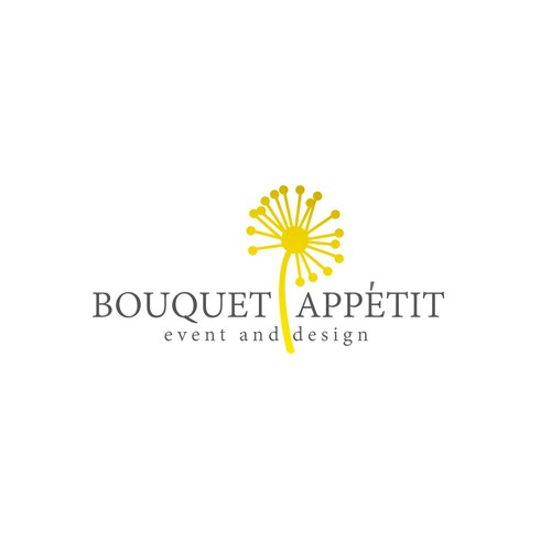 Bouquet appetit logo for event and design company