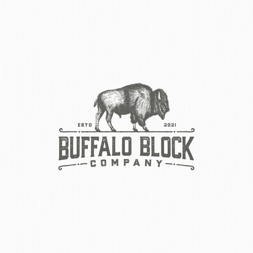Rustic feel logo for butcher board maker