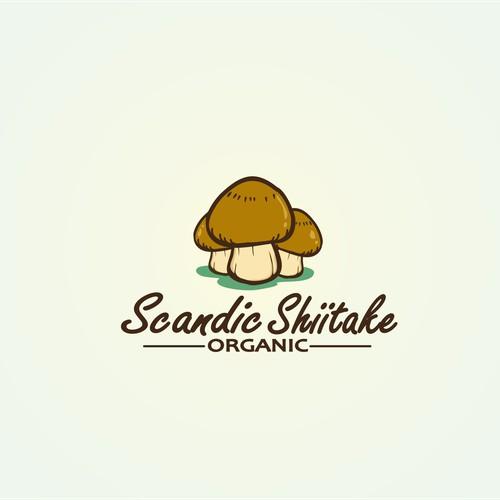 mushroom logo, farm logo