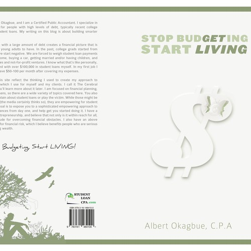 Stop Budgeting Start Living book cover; minimalist