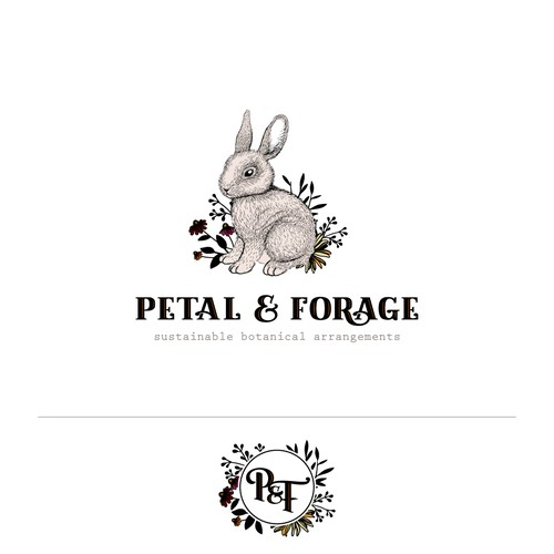Logo concept for Petal and Forage.