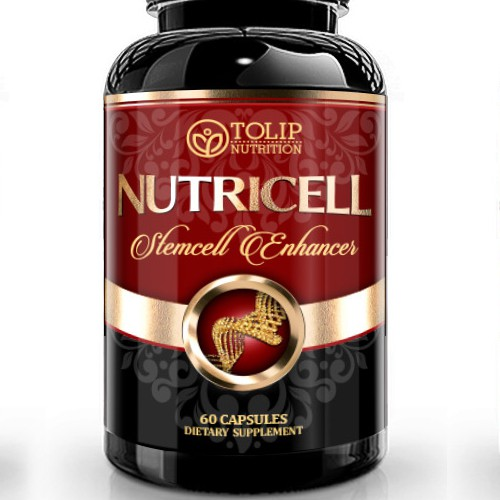 Create high-end label for stemcell supplement. Repeat work for winner & top contenders