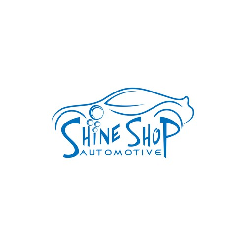 Help Shine Shop Automotive update their current logo