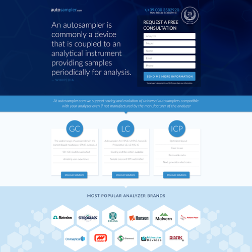 Landing Page for AutoSampler.com