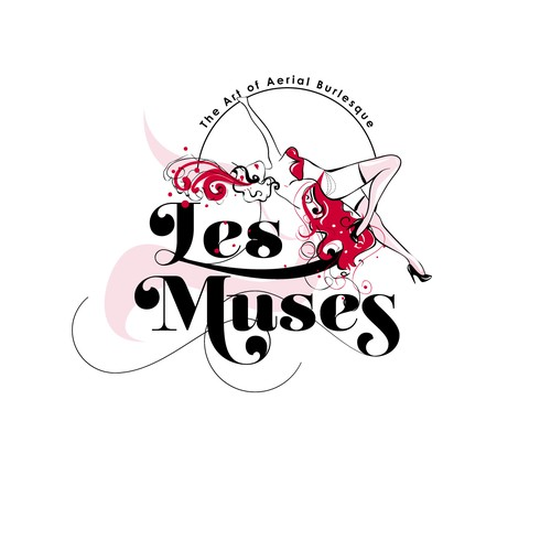 Seductive logo for burlesque troupe
