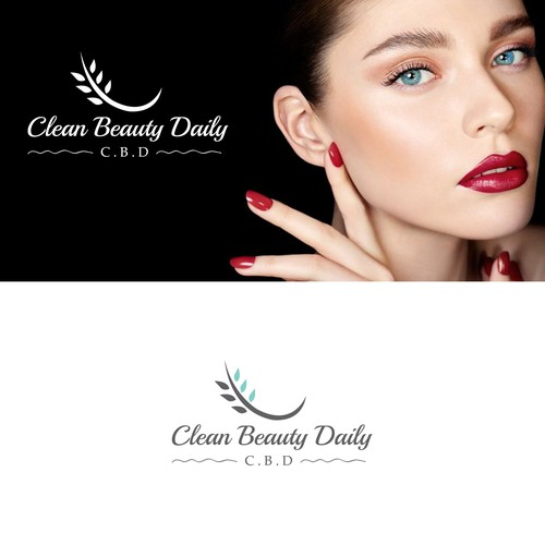 Simple and clean Logo idea for Cosmetic Company