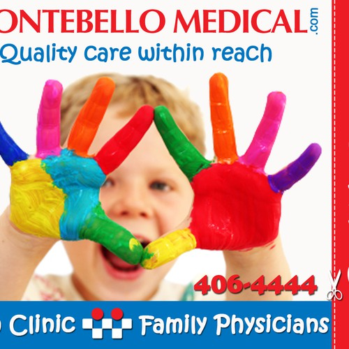 Eye Catching Advertising Insert for a Medical Clinic