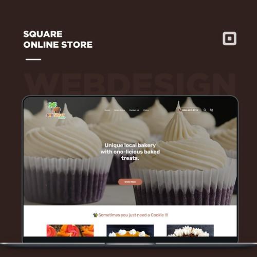 Bakery Square Online Full Site Design