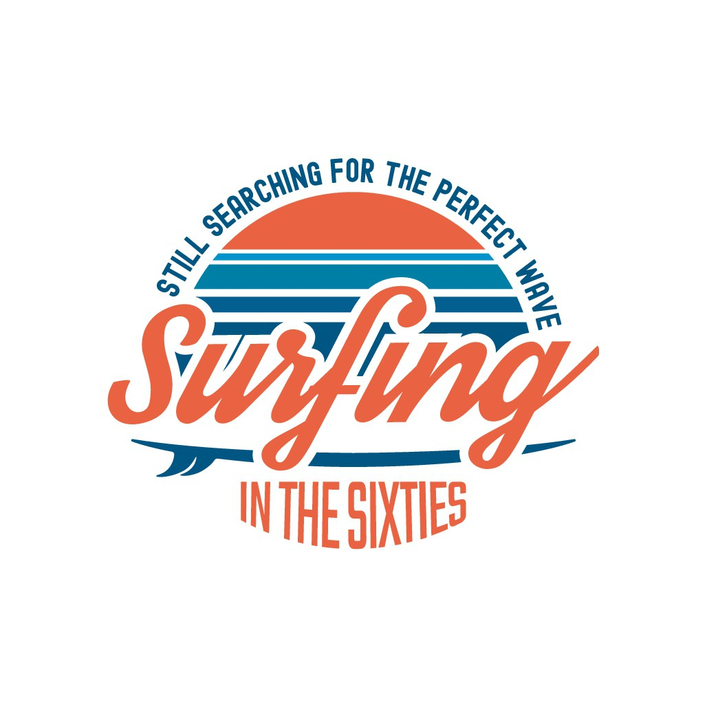 Design a cool logo to appeal to surfers in their 60s who have a spirit of adventure and charity.