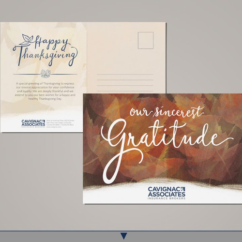 Company Thanksgiving Card