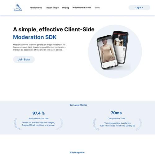 DragonflAI web design