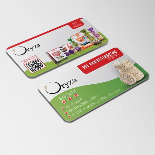 Business Card - Oryza Puffed Cakes