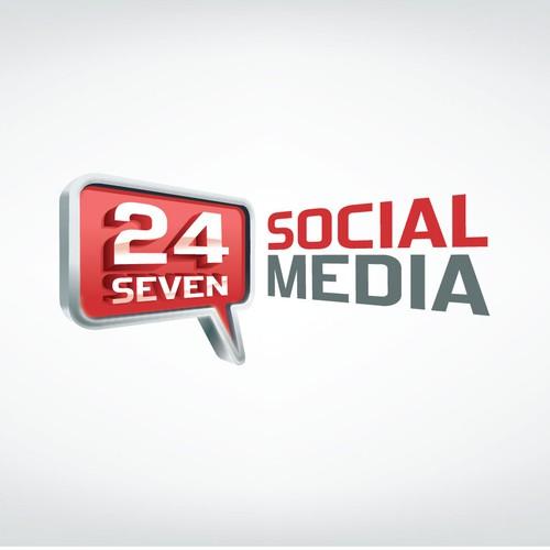 Create the LOGO for 24 Seven Social Media - OPEN design!