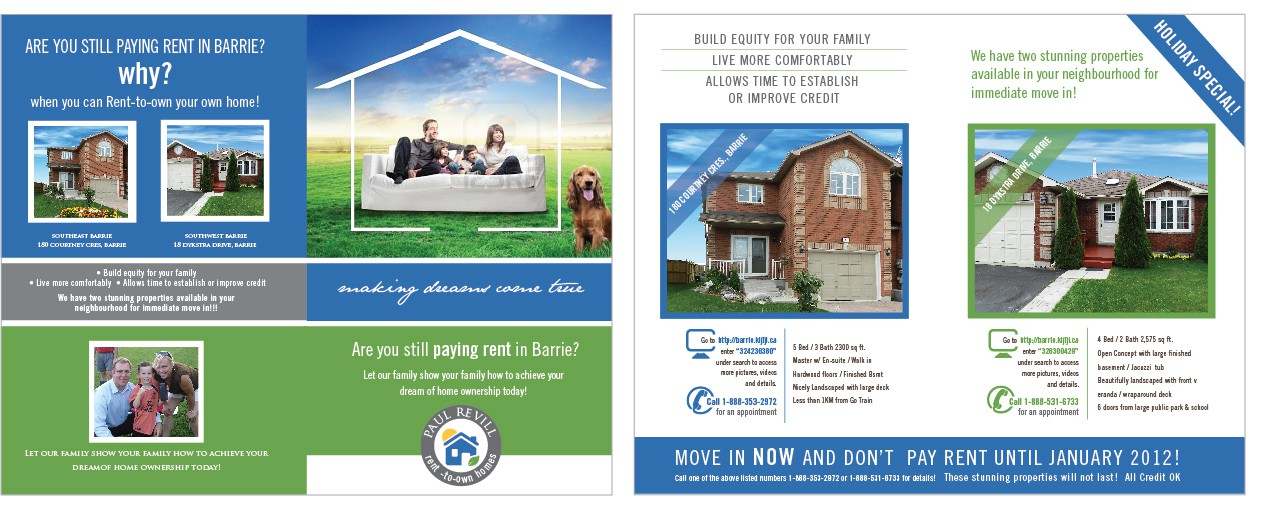 Paul R - Sole Proprietor needs a double panel ad design (brochure) for direct mailing