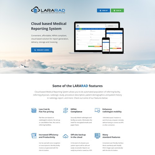 Redesign of Medical Reporting Website