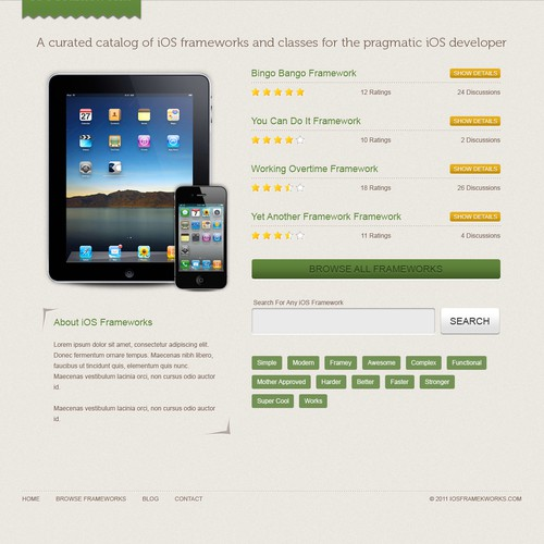 Website focussed at iPhone/iPad developers