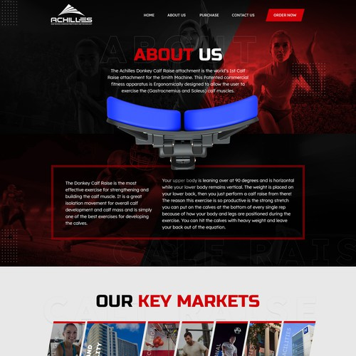 Webpage design Inner page