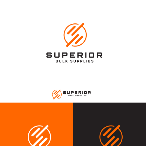 Superior bulk supplies logo design