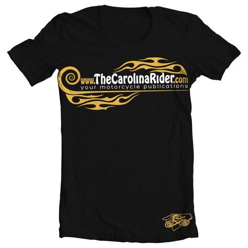 Create the next t-shirt design for The Carolina Rider