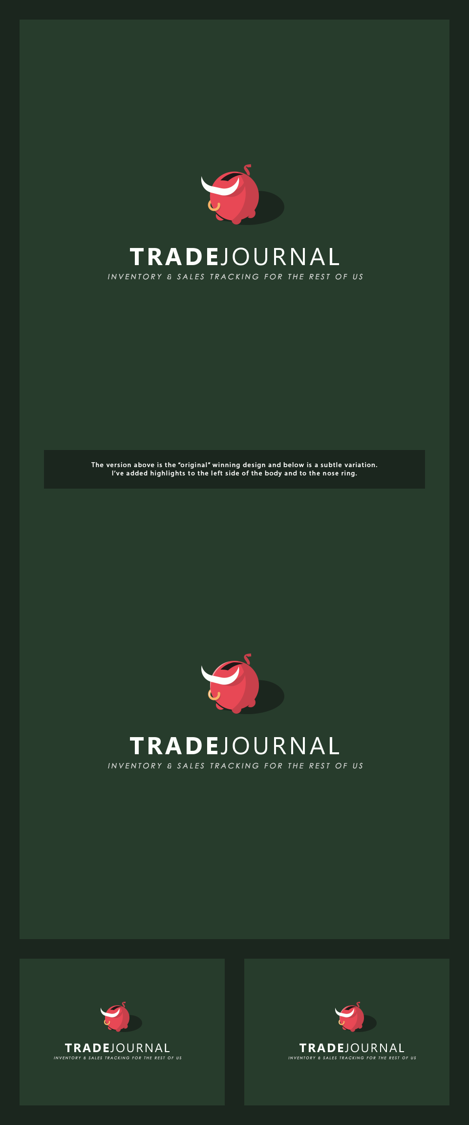 Design a playful logo for Trade Journal an inventory and sales management app