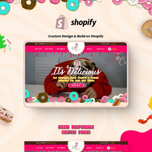 Shopify Website for Dog Bakery Products