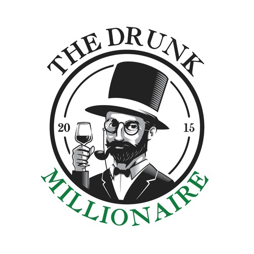 The Drunk Millionaire logo design