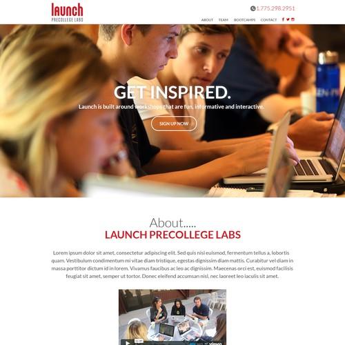 Parallax Landing page Design