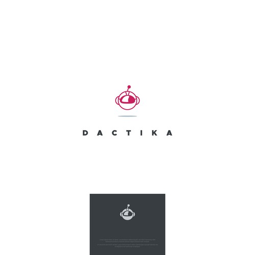 Cute robot as a logo for a tech startup