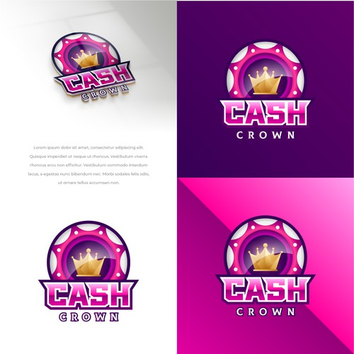 Playful logo+brand for online gaming site Cash Crown