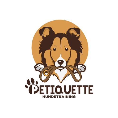 Playful logo for dog training