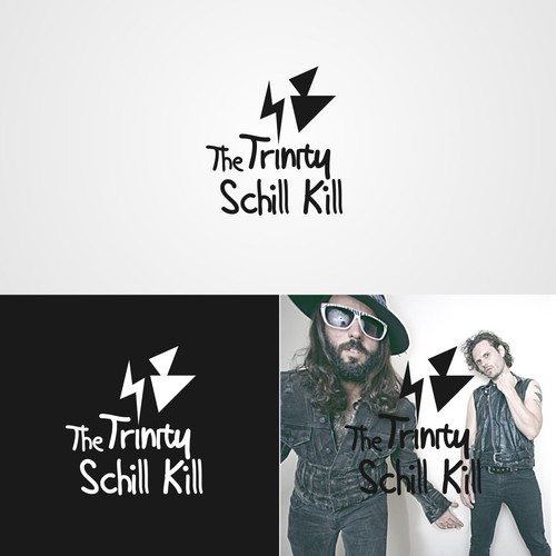Design the logo/symbol for The Trinity Schill Kill, an electro-pop duo influenced by Prince & MJ