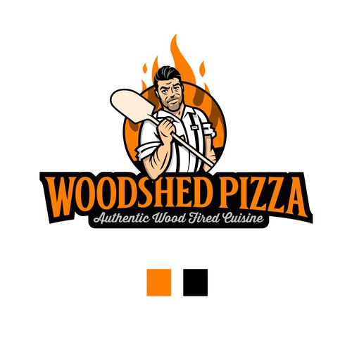 Woodshed Pizza Logo