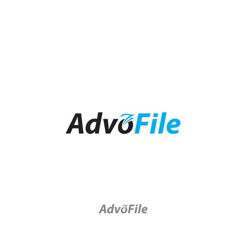 Advo file logo concept