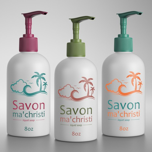 Illustration and Label for Liquid Soap
