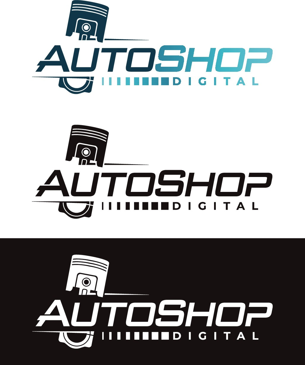 Modern Logo for Auto Shop Creative Agency