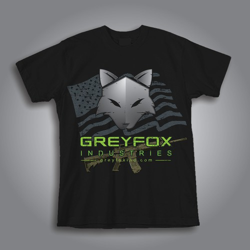 Create a tactical T-shirt for GreyFox