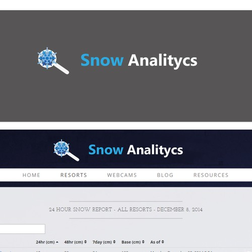 Create a logo for SnowAnalytics.CA a website for skiers and snowboarders!
