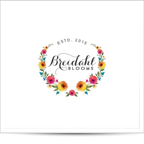 bold logo concept for wreaths