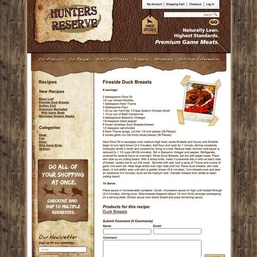 Premium meats eCommerce site needs a PREMIUM design