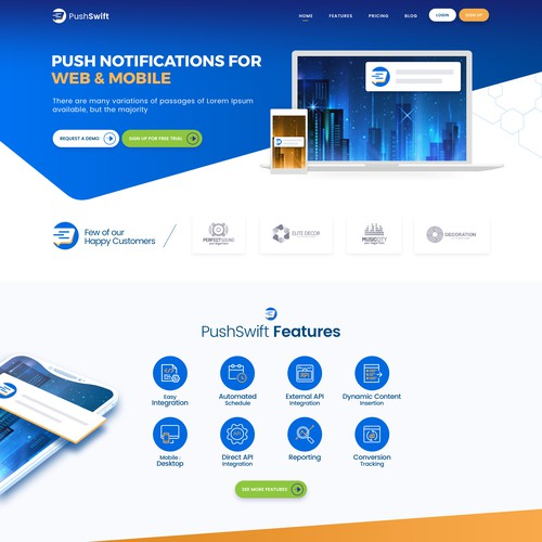 Design concept for PushSwift